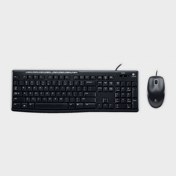 LOGITECH - MK200 Media Wired Keyboard and Mouse Combo
