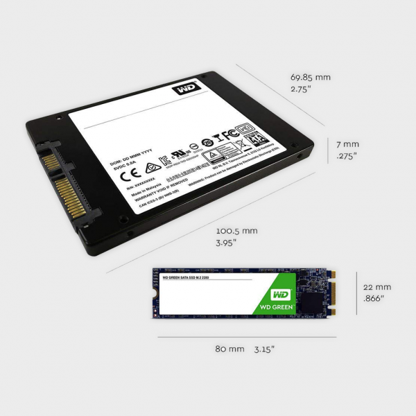 WD - SSD 240GB Green Retail M.2 (WDS240G2G0B)