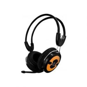 Circle Concerto 202 Multimedia Headphones with Mic (Orange) by CIRCLE