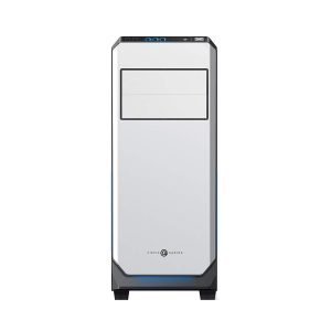 Circle Gaming Elegantor Gaming ATX Tower Case with Transparent Side Panel and Water Cooling Support (White)