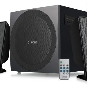 Circle CT 2.1 360RC Speaker and Amplifier with Remote (Black)