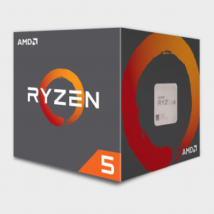 AMD - Cores 6 Threads 12 Processor RYZEN-5-2600X CPU