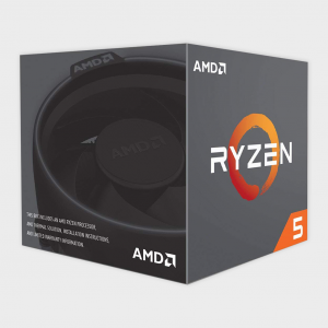 AMD - Cores 6 Threads 12 Processor RYZEN-5-2600 CPU