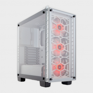 Corsair - cabinet crystal series 460x white rgb mid tower tempered glass