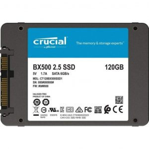 gamesncomps Crucial BX500 120GB 3D NAND SATA 2.5-inch SSD