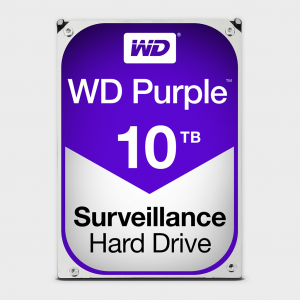 Wd - purple 10tb surveillance hdd (wd100purz)