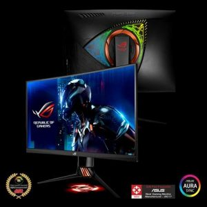 ROG Swift PG27VQ Curved Gaming Monitor – 27 (68.58cm) 2K WQHD (2560x1440), overclockable 165Hz, 1ms, G-SYNC, Aura Sync Technology