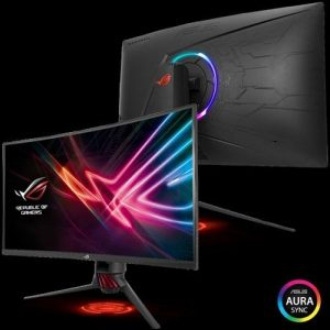 ROG Strix XG32VQ Curved Gaming Monitor – 32 (81.28cms) WQHD (2560x1440), 144Hz, Aura Sync, Adaptive-Sync(FreeSync™),125% sRGB color space