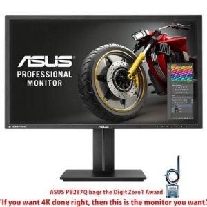 ASUS PB287Q Gaming Monitor - 71.12cm(28) 4K UHD (3840x2160), 1ms, Flicker free