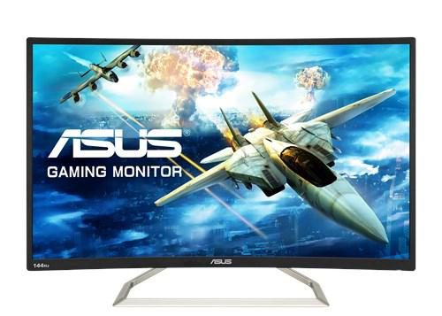 Asus va326h gaming monitor – 80.01cm (31.5) fhd (1920x1080), 144hz, curved, flicker free, low blue light