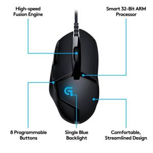 GamesnComps - LOGITECH G402 Hyperion Fury Ultra Fast FPS Gaming Mouse 3