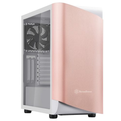 gamesncomps SILVER STONE SETA A1 ROSE GOLD MID TOWER CABINET