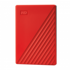 gamesncomps Western Digital 2TB My Passport Portable External Hard Drive, RED