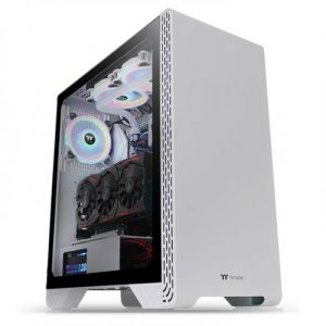 gamesncomps THERMALTAKE S300 Tempered Glass Snow Edition Mid-Tower Chassis5