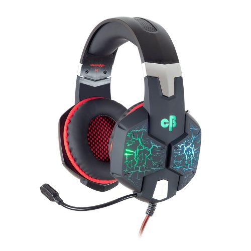 GamesnComps - COSMIC BYTE G1500 7.1 CHANNEL USB HEADSET FOR PC WITH RGB LED LIGHTS (BLACK/RED)