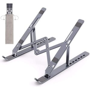 GamesnComps - COSMIC BYTE ADJUSTABLE ALUMINUM PORTABLE LAPTOP RACK STAND